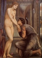 Pygmalion And The Image IV ­ The Soul Attains [detail] by Edward Burne Jones